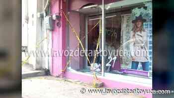 Roban en tienda de ropa íntima Ilusión, en Tantoyuca - La Voz De Tantoyuca