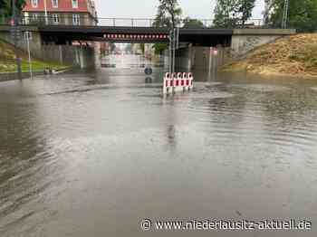 Unwetter über der Lausitz: Überflutungen in Elsterwerda und Finsterwalde - Niederlausitz Aktuell - NIEDERLAUSITZ aktuell