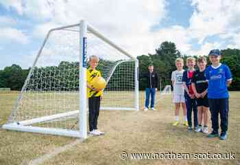 Football nets erected in New Elgin field after fundraising effort - Northern Scot