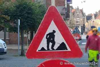Dringende werken aan Nieuwbaan, verkeer wordt omgeleid - Het Nieuwsblad
