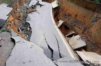 Colapso de vía deja incomunicado a municipio de Briceño - El Colombiano