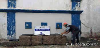 Fonte da Carioca passa por restaurações em Laguna - Sul. Agora