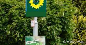 Warum die Grünen den Verzicht auf kleine Wahlplakate wollen - Neue Westfälische