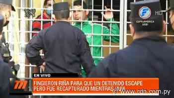 Recapturan a hombre que intentó huir de calabozo en medio de riña - Resumen de Noticias