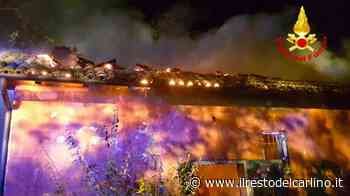 Incendio Monteveglio, a fuoco un deposito nella notte - il Resto del Carlino - il Resto del Carlino