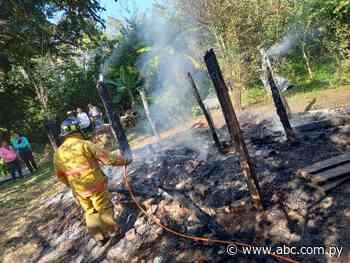 Incendio fatal en Arroyos y Esteros - Nacionales - ABC Color