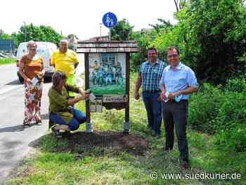Das Begrüßungsschild am Ortseingang von Geisingen steht wieder   SÜDKURIER Online - SÜDKURIER Online