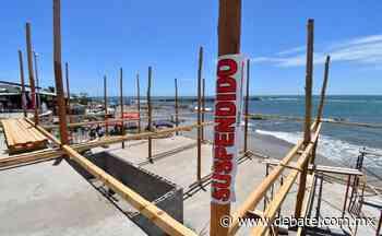 Detienen obra de palapa que invade playa Cerritos en Mazatlán - Debate