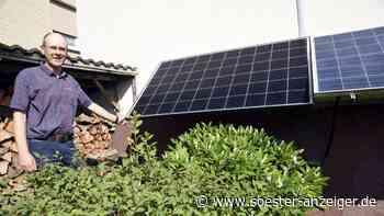 Martin Kutscher hält klimagerechtes Handeln per Mini-Photovoltaikanlage für sinnvoll - soester-anzeiger.de