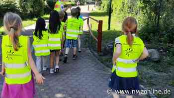 Verkehrstraining in Wardenburg: Kinder werden auf Schulweg vorbereitet - Nordwest-Zeitung