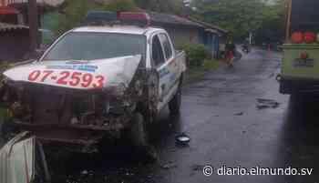 Agente lesionado tras accidentarse su patrulla en Conchagua, La Unión - Diario El Mundo