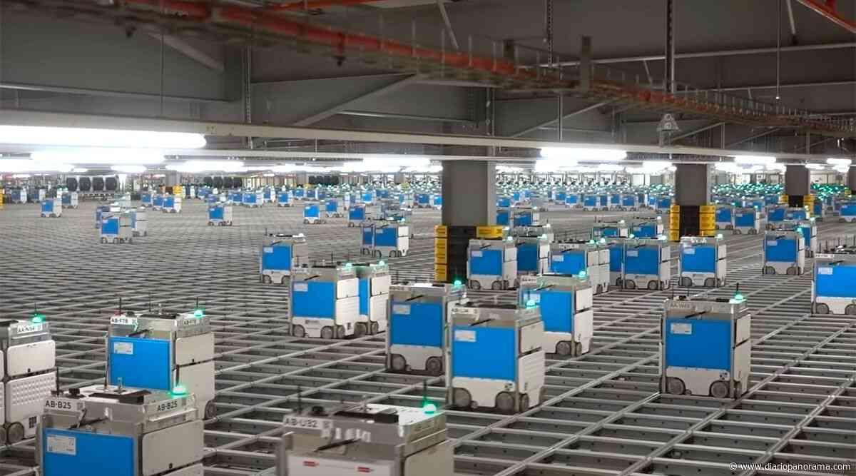 La impresionante colmena de robots que trabaja en un supermercado online - Diario Panorama de Santiago del Estero