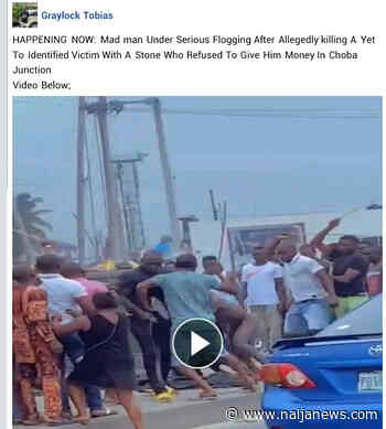 Chaos As 'Mentally Challenged' Man Stabs Pedestrian Over Money In Port Harcourt – [Photos] - Naija News