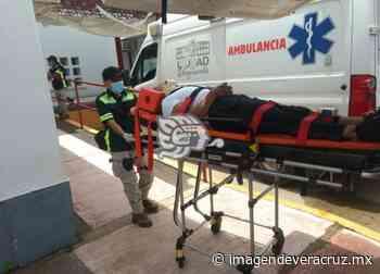 Dos lesionados por accidente en Acayucan atendió PC - Imagen de Veracruz