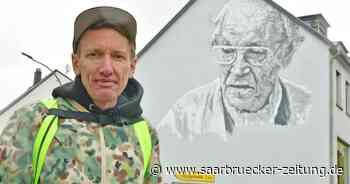 Schiffweiler: Street Art-Künstler Hendrik Beikirch ehrt Walter Bernstein - Saarbrücker Zeitung