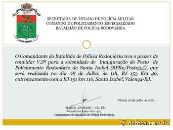 Inauguração do Posto de Posto de Policiamento Rodoviário de Santa Isabel - Defesa - Agência de Notícias