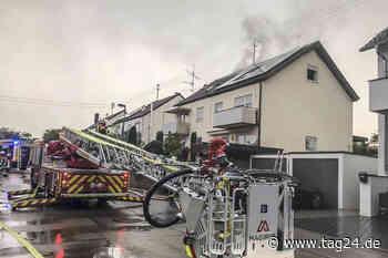 Unwetter - Blitz setzt Dachstuhl in Herrenberg in Brand - TAG24