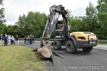 """Premier coup de pelle sur la RD2029 à Riom : l'aménagement du """"parc urbain linéaire"""" va commencer - Riom (63200) - La Montagne"""