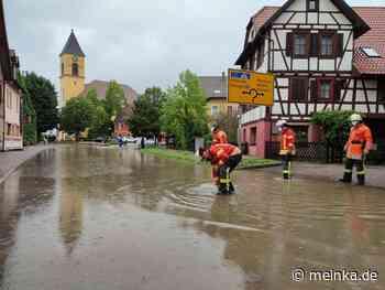 Unwetter über der Region: Überschwemmung in Karlsbad - meinKA | Stadtportal Karlsruhe