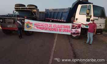En Uribia, transportadores bloquean vía Manaure – Maicao - Opinion Caribe