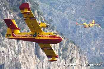 Le ballet aérien des Canadair fascine dans la baie Bandol-Sanary - Var-Matin