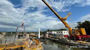 Neue Tore für die Schleuse in Lauffen am Neckar - SWR