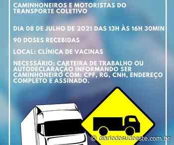 Mangueirinha vacina caminhoneiros e motoristas do transporte coletivo amanhã - Diário do Sudoeste