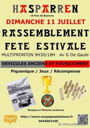Rassemblement de véhicules anciens et youngtimers Hasparren dimanche 11 juillet 2021 - Unidivers
