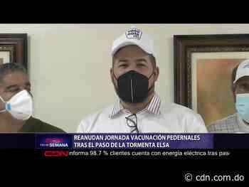 Reanudan jornada vacunación Pedernales tras el paso de la tormenta Elsa - CDN