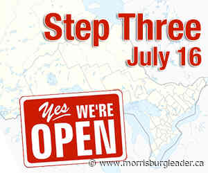 Ontario to move to Step Three reopening on July 16 - The Morrisburg Leader