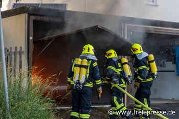 Garage brennt in Treuen aus - Freie Presse