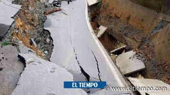 Derrumbe dejó incomunicadas 8.000 personas en Briceño, Antioquia - El Tiempo