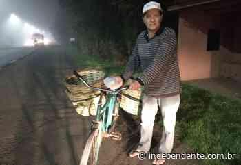 Revendedor de balaios entrega seus produtos de bicicleta pelo Vale do Taquari - independente