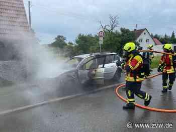 Welzheim-Breitenfürst: Fahrzeug brennt vollständig aus, Fahrer kommt mit Schrecken davon - Blaulicht - Zeitungsverlag Waiblingen - Zeitungsverlag Waiblingen