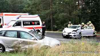 Schwerer Verkehrsunfall auf der B198 bei Neustrelitz - Nordkurier