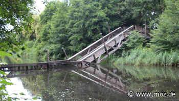 Verkehr Sicherheit: Gefahr im Verzug - Brücke über Finowkanal in Schorfheide nicht mehr zu retten - moz.de