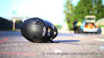 Motorradfahrer streift auf der B2 entgegenkommendes Auto - Augsburger Allgemeine