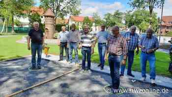 Hobbys in der Gemeinde Apen: Neuer Bouleplatz im Aper Ortszentrum - Nordwest-Zeitung