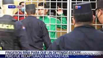 Presos fingen riña en el calabozo para que presunto narco se escape - ÚltimaHora.com