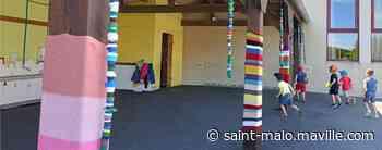 Combourg. De la couleur dans la cour de l'école Sainte-Anne - maville.com