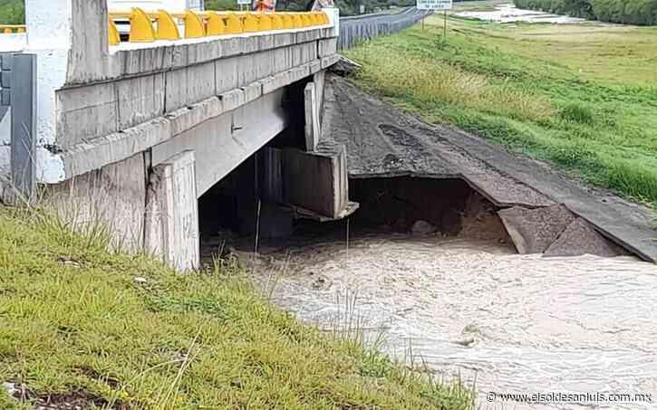 Cierran autopista Cerritos-Tula por posible colapso de puente - El Sol de San Luis