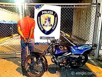 Policía de Guacara detuvo a motorizado por robo a una dama - Diario El Siglo