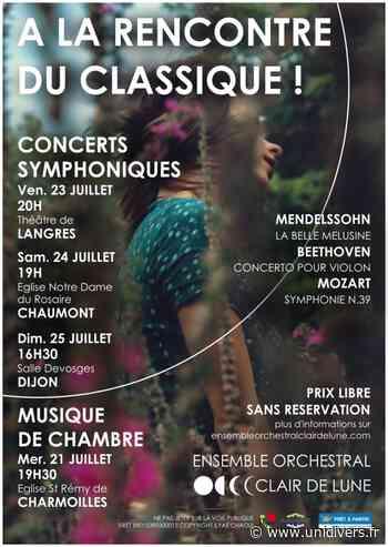 À la rencontre de la musique classique ! Théâtre de Langres vendredi 23 juillet 2021 - Unidivers