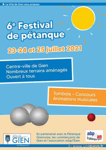 6eme Festival de Pétanque GIEN samedi 24 juillet 2021 - Unidivers