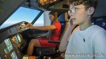 Flight Kids aus Leeste und Brinkum: Jolina und Ben fliegen den A 320 - WESER-KURIER - WESER-KURIER