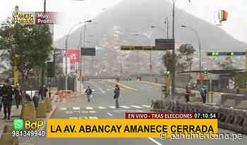 Cercado de Lima: avenida Abancay amanece cerrado al tránsito - Panamericana Televisión