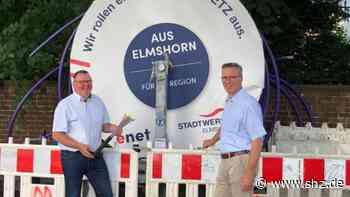 Elmshorn und Kölln-Reisiek: Glasfaserausbau der Stadtwerke Elmshorn: Vor dem Zeitplan | shz.de - shz.de