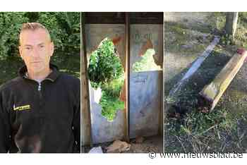 Schuilhok vernield, paal uitgerukt en reddingsboei verdwenen... (Kortemark) - Het Nieuwsblad