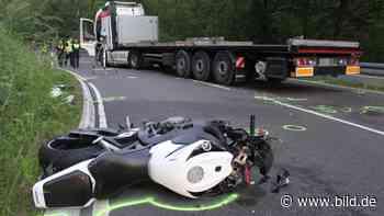 Windeck: Motorradfahrer gerät unter Sattelschlepper - tot - BILD