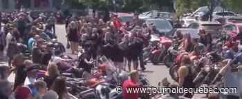 Saint-Lambert-de-Lauzon: rassemblement de motos pour rendre hommage à un motocycliste décédé - Le Journal de Québec